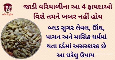 variyali benefits in gujarati