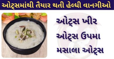 Oats recipe in gujarati