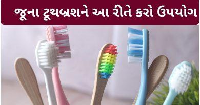 toothbrush no upyog gujarati ma